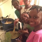 Have Faith Haiti cooking class basil pesto
